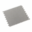 Porcelain Mosaic Penny Round D20 Gloss Grey