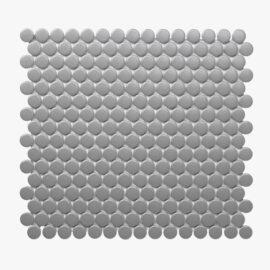 Porcelain Mosaic Penny Round D20 Matt Grey