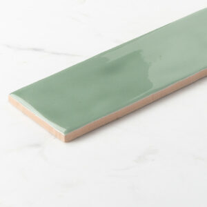 Ceramics Wave Mould Tile 75x300 Gloss Green