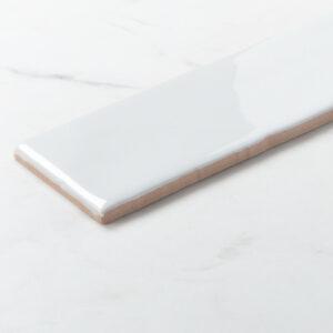 Ceramics Wave Mould Tile 75x300 Gloss White