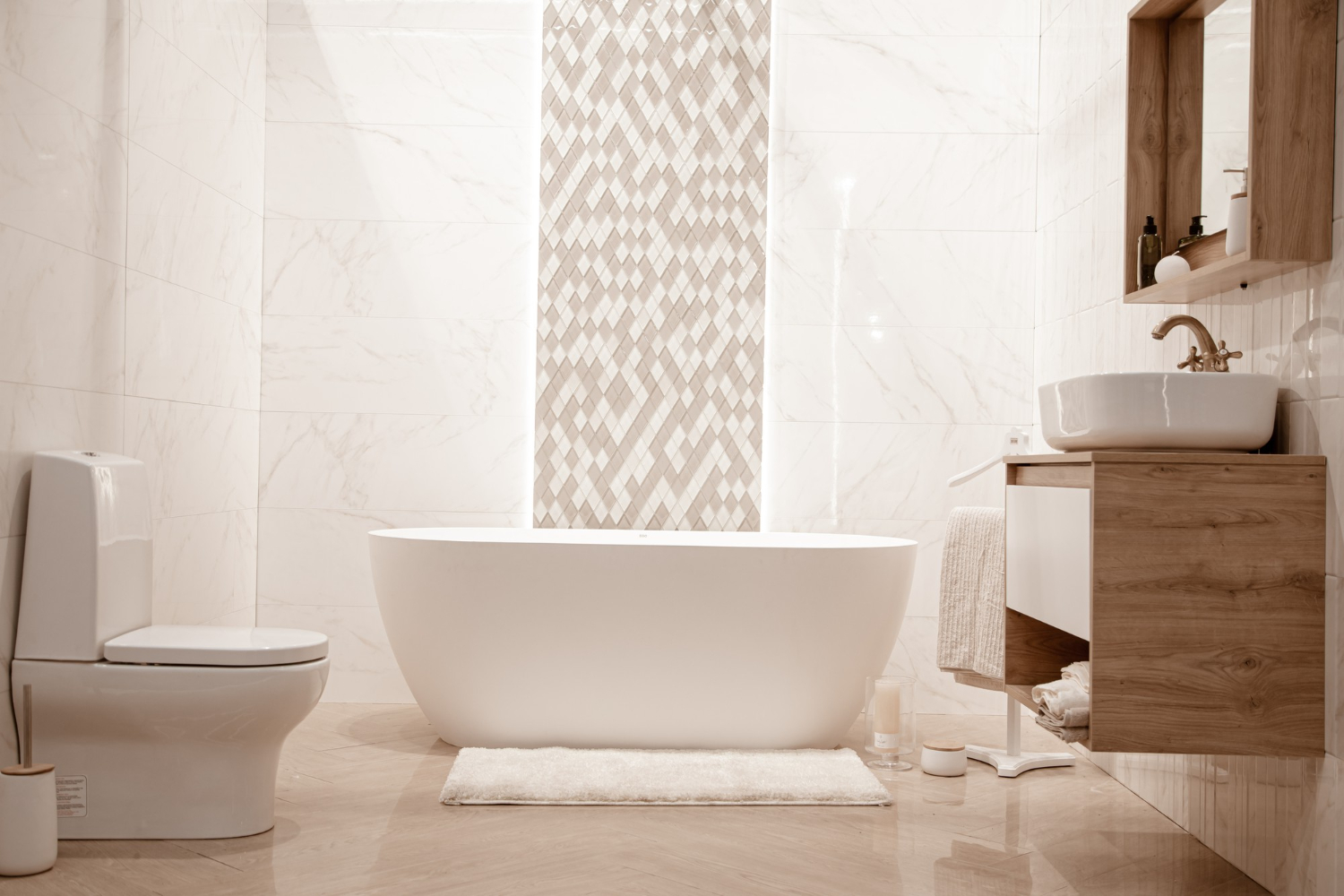 What are the Latest Trends in Bathroom Tiles?   Tilemall Australia